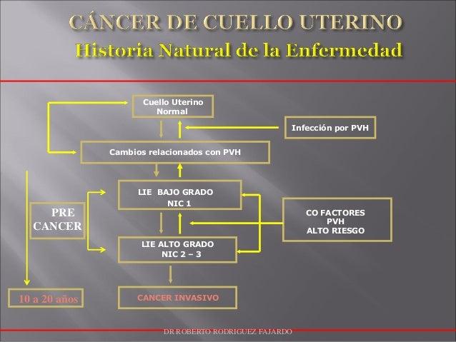 Cuello Uterino Normal Cambios relacionados con PVH Infección por PVH LIE BAJO GRADO NIC 1 LIE ALTO GRADO NIC 2 – 3 CANCER ...