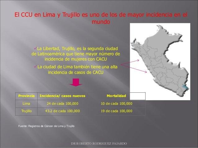 La Libertad, Trujillo, es la segunda ciudad de Latinoamérica que tiene mayor número de incidencia de mujeres con CACU La...