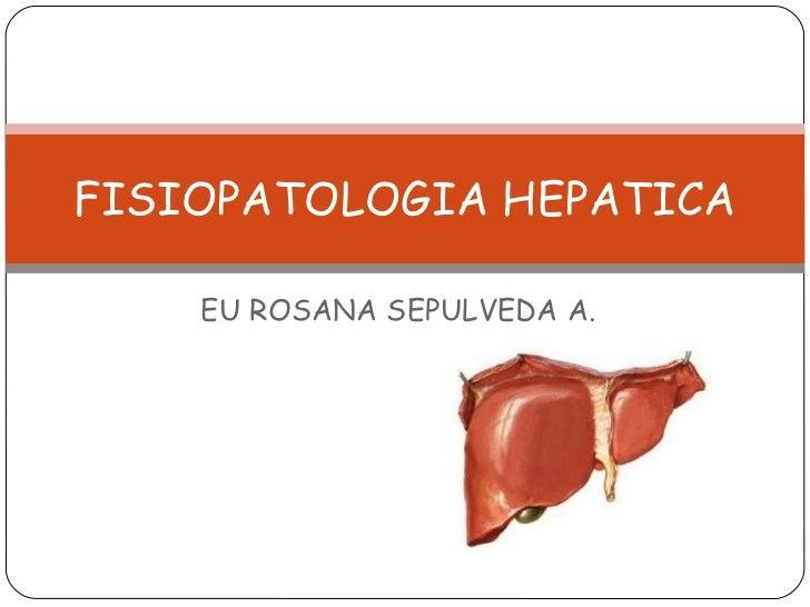 EU ROSANA SEPULVEDA A. FISIOPATOLOGIA HEPATICA