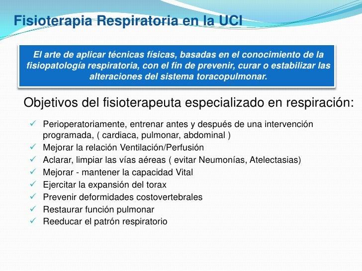 Fisioterapia Respiratoria Pacientes Críticos