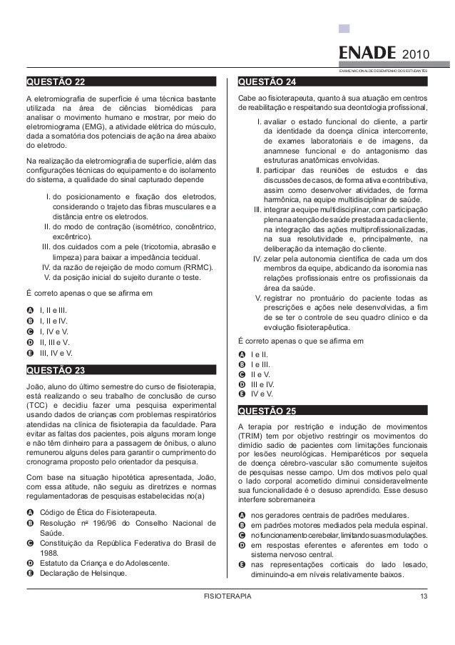 2010 DO ENADE BAIXAR PROVAS