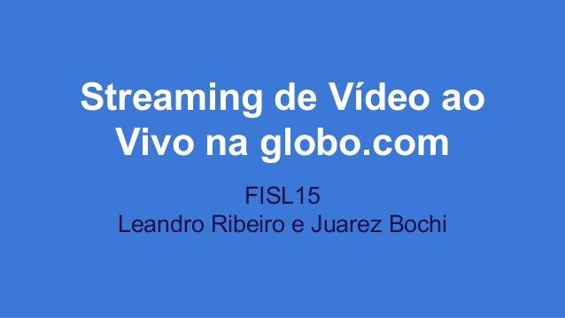 Streaming de Vídeo ao Vivo na globo.com FISL15 Leandro Ribeiro e Juarez Bochi