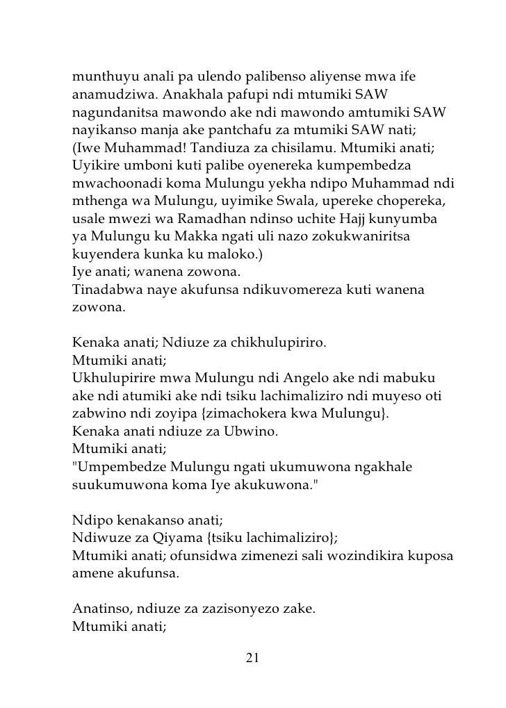 munthuyu anali pa ulendo palibenso aliyense mwa ife anamudziwa. Anakhala pafupi ndi mtumiki SAW nagundanitsa mawondo ake n...