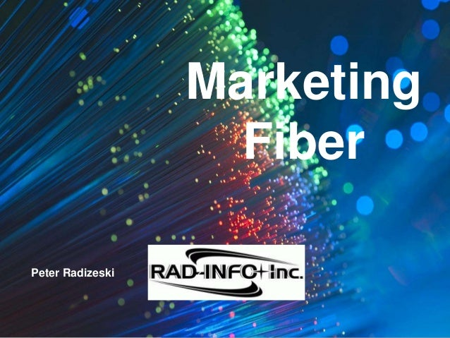 #FISPA2016 Marketing Fiber Peter Radizeski