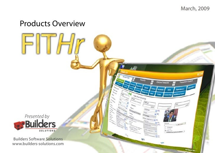 March, 2009     Products Overview     Builders Software Solutions www.builders-solutions.com