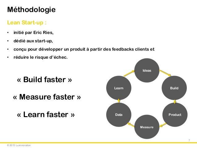 © 2015 Luxinnovation Méthodologie Lean Start-up : • initié par Eric Ries, • dédié aux start-up, • conçu pour développer un...