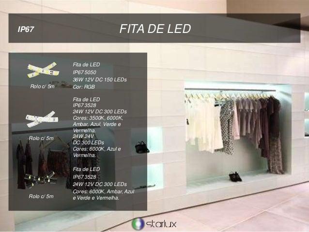 FITA DE LED Fita de LED IP67 5050 36W 12V DC 150 LEDs Cor: RGB IP67 Fita de LED IP67 3528 24W 12V DC 300 LEDs Cores: 3500K...