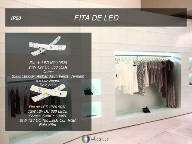 FITA DE LEDIP20 Fita de LED IP20 3528 24W 12V DC 300 LEDs Cores: 3500K,6000K, Ambar, Azul, Verde, Vermelh a e Luz Negra. R...