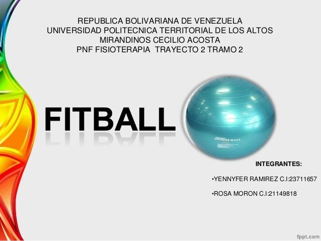 REPUBLICA BOLIVARIANA DE VENEZUELA UNIVERSIDAD POLITECNICA TERRITORIAL DE LOS ALTOS MIRANDINOS CECILIO ACOSTA PNF FISIOTER...