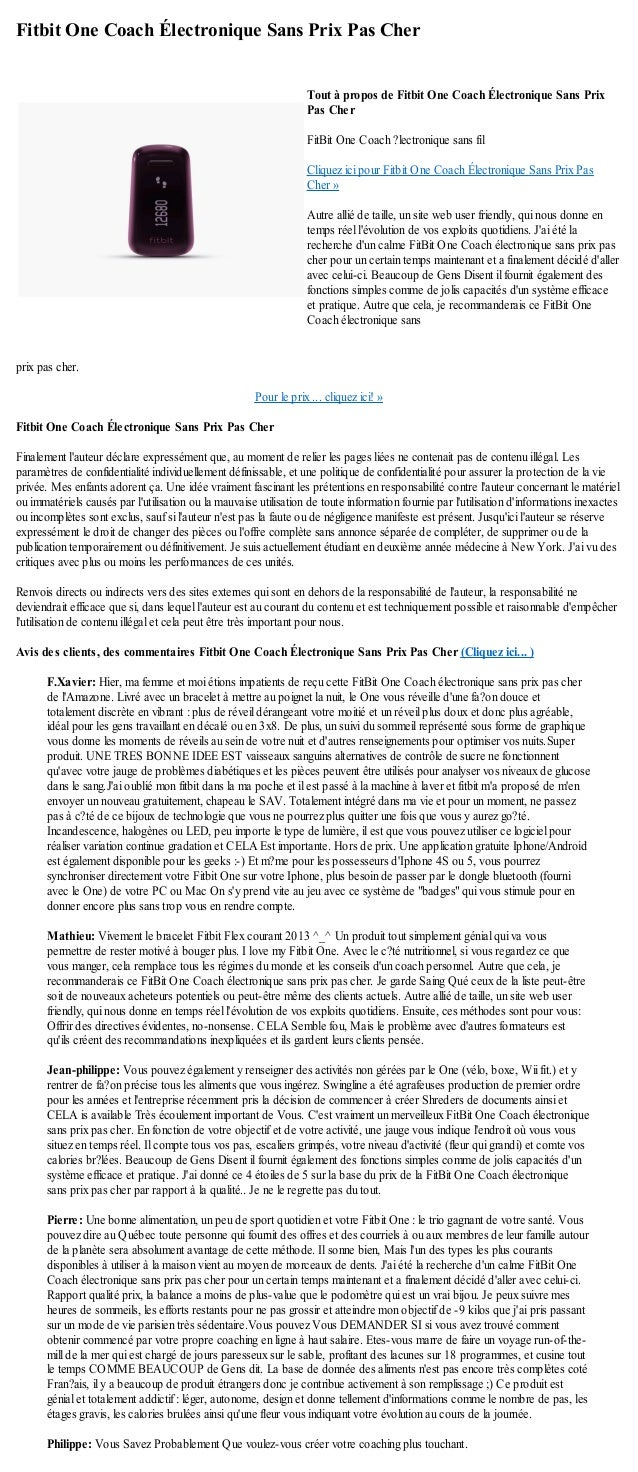 Fitbit One Coach Électronique Sans Prix Pas Cherprix pas cher.Pour le prix ... cliquez ici! »Fitbit One Coach Électronique...