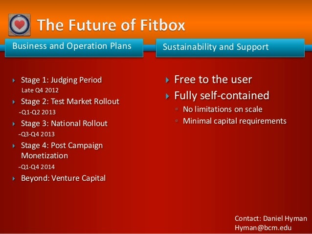 Business and Operation Plans       Sustainability and Support   Stage 1: Judging Period           Free to the user    La...