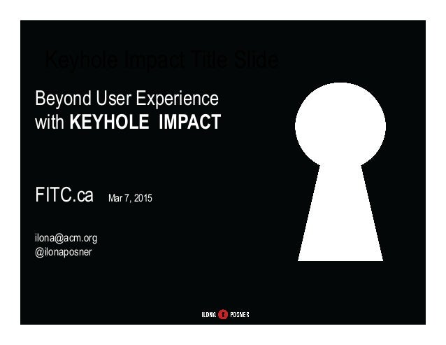 User Experience Makes & Breaks Brands – How to Make Sure User Experience is Optimal AMEX WIT, March 3, 2015 ilona@acm.org ...