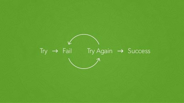 Try Fail Try Again Success