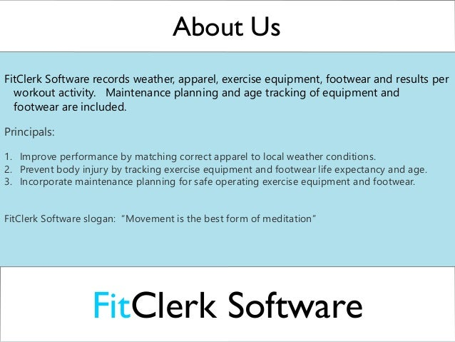 FitClerk Software | Fitness Tracker Software Maintenance Functionality
