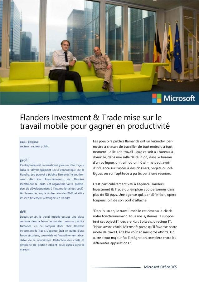 Flanders Investment & Trade mise sur le travail mobile pour gagner en productivité Les pouvoirs publics flamands ont un le...