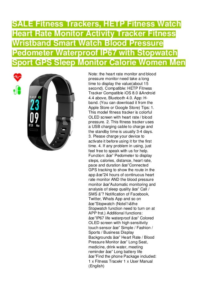 Cheap Fitness Trackers Hetp Fitness Watch Heart Rate Monitor Activit