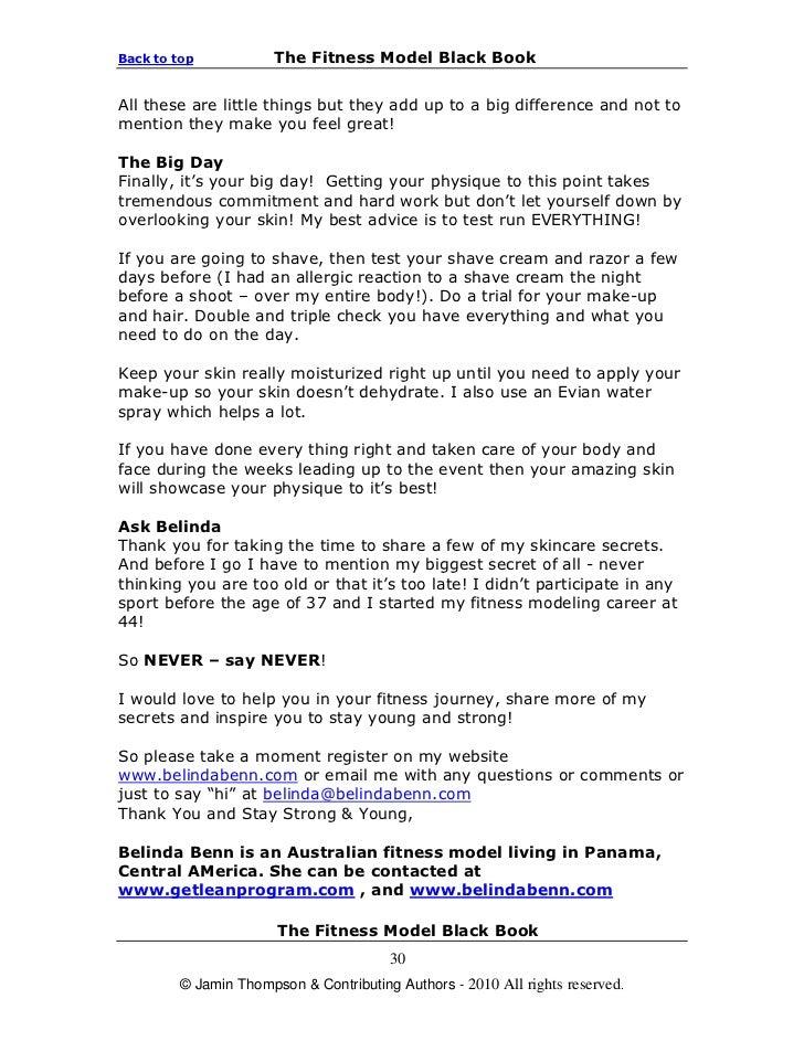Jaminthompson Fitness Model Black Book