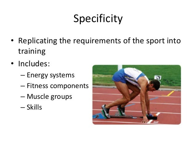 Principles of training for sprinting