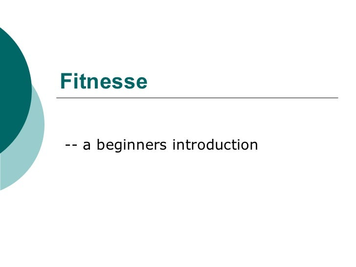 Fitnesse -- a beginners introduction