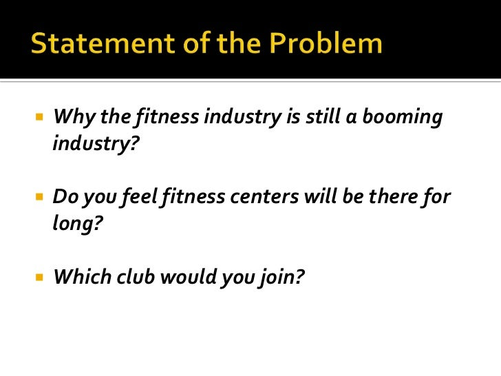 Fitness Industry Analysis