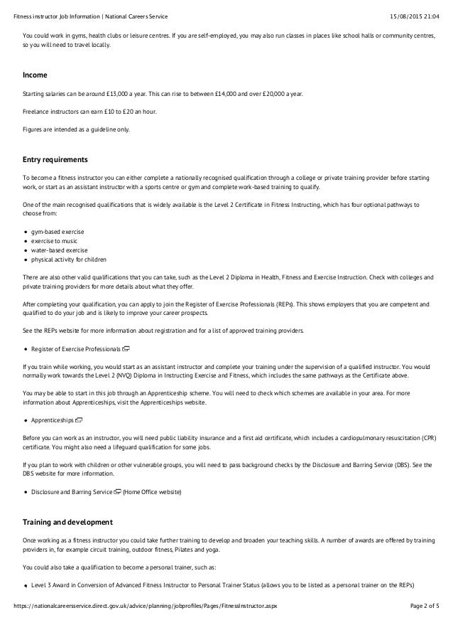 fitness instructor job information national careers service 2 638?cb=1441105960 fitness instructor job information national careers service  at bakdesigns.co