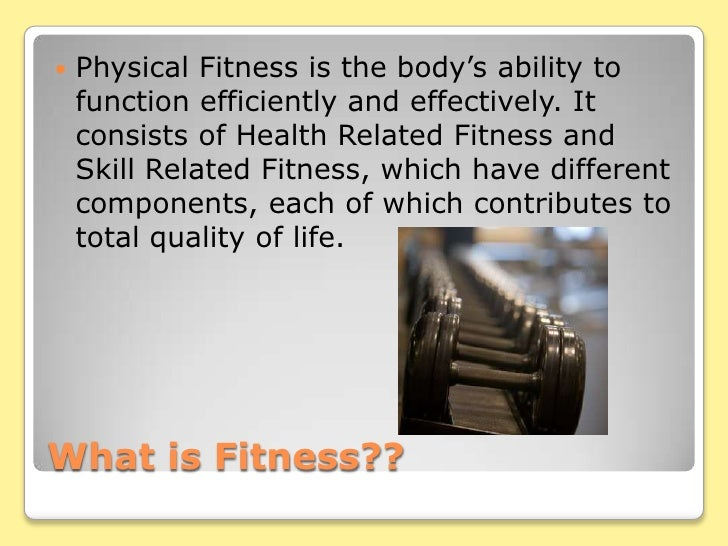 Fitness powerpoint