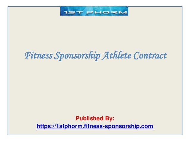 Fitness sponsorship athlete contract – Athlete Sponsorship Contract