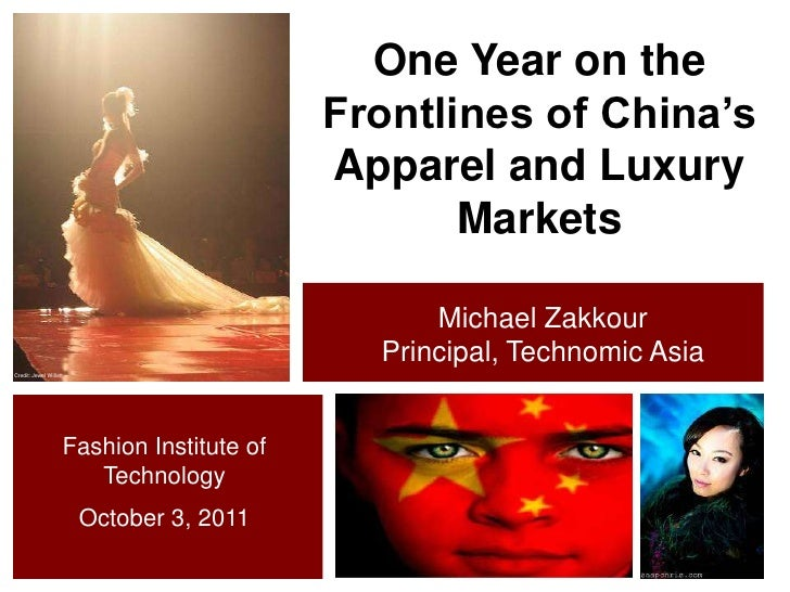 One Year on the Frontlines of China's Apparel and Luxury Markets<br />Michael Zakkour<br />Principal, Technomic Asia<br />...
