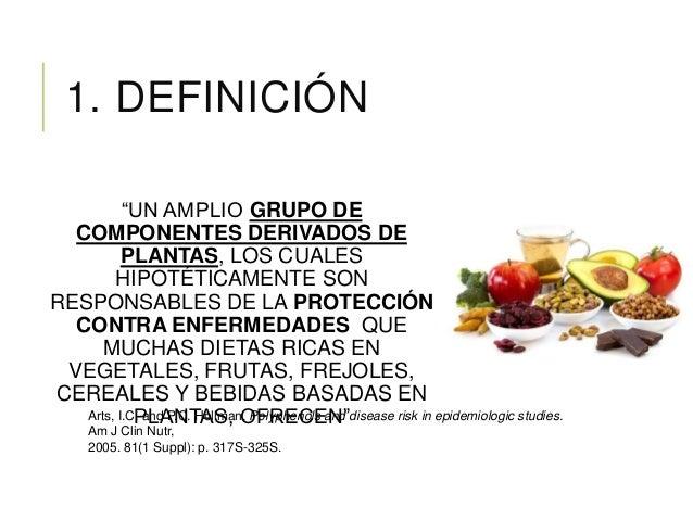 """1. DEFINICIÓN """"UN AMPLIO GRUPO DE COMPONENTES DERIVADOS DE PLANTAS, LOS CUALES HIPOTÉTICAMENTE SON RESPONSABLES DE LA PROT..."""