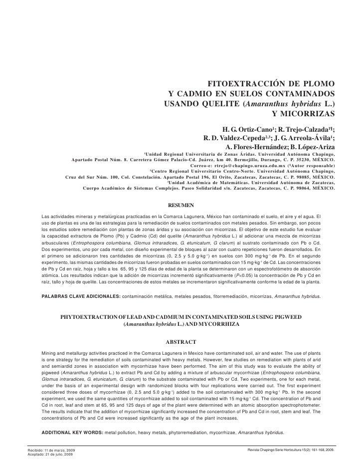 161                                                                           FITOEXTRACCIÓN DE PLOMO                     ...