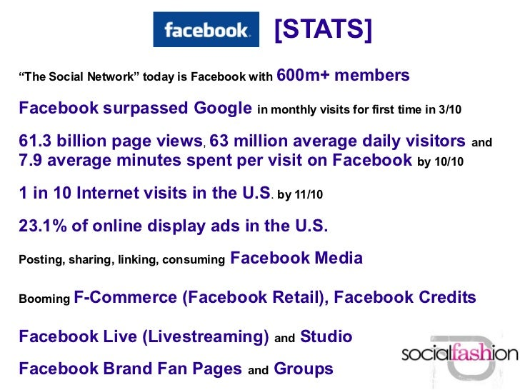 """[STATS]""""The Social Network"""" today is Facebook with   600m+ membersFacebook surpassed Google in monthly visits for first ti..."""