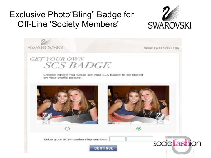 """Exclusive Photo""""Bling"""" Badge for  Off-Line Society Members"""