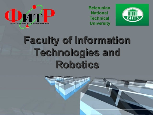 Belarusian              National             Technical             UniversityFaculty of Information  Technologies and     ...