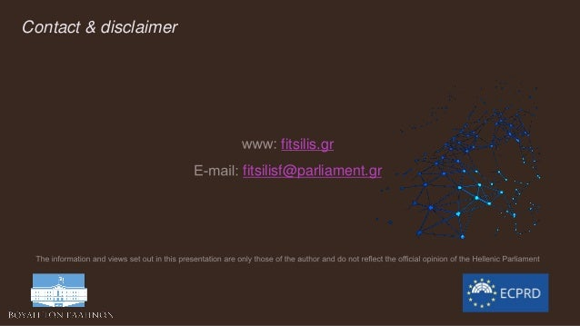 Contact & disclaimer fitsilis.gr fitsilisf@parliament.gr