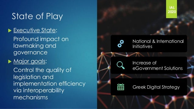 Legal Informatics and Interoperability patterns supporting the Greek Executive State Slide 2