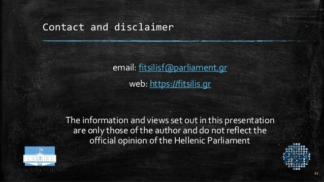 Contact and disclaimer email: fitsilisf@parliament.gr web: https://fitsilis.gr The information and views set out in this p...