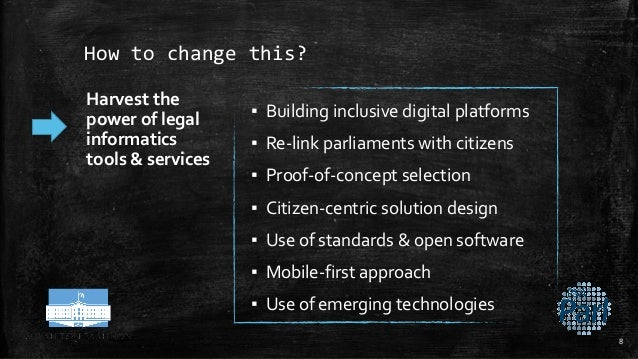 How to change this? Harvest the power of legal informatics tools & services ▪ Building inclusive digital platforms ▪ Re-li...