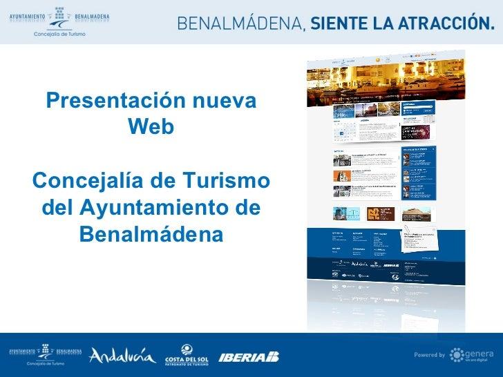 Presentación nueva Web Concejalía de Turismo del Ayuntamiento de Benalmádena
