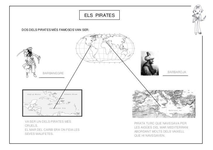 ELS PIRATESDOS DELS PIRATES MÉS FAMOSOS VAN SER:           BARBANEGRE                                               BARBAR...