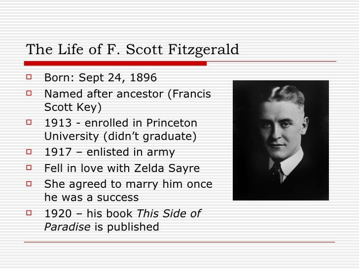 a biography of the popular modern author f scott fitzgerald Learn about f scott fitzgerald: his birthday, what he did before fame, his family life, fun trivia facts jazz age author of the great gatsby, member of the lost generation, and daisy buchanan, a character in the great gatsby, became one of the most prominent heroines of modern literature.