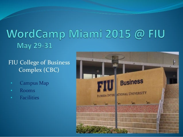 Wordcamp Miami 2015 Fiu