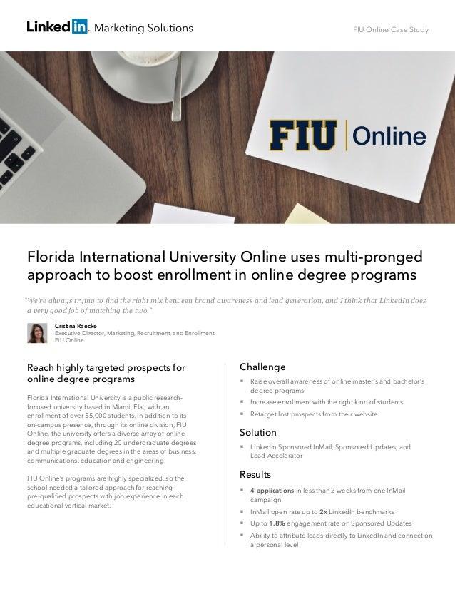 Florida International University Online Case Study