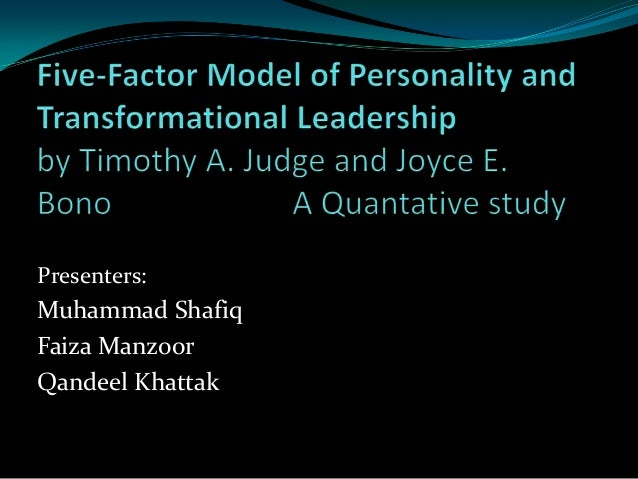 five factor model of personality essay Personality theories and models: an overview gregory j boyle  16 personality factor questionnaire or 16pf, cattell also identified several additional.