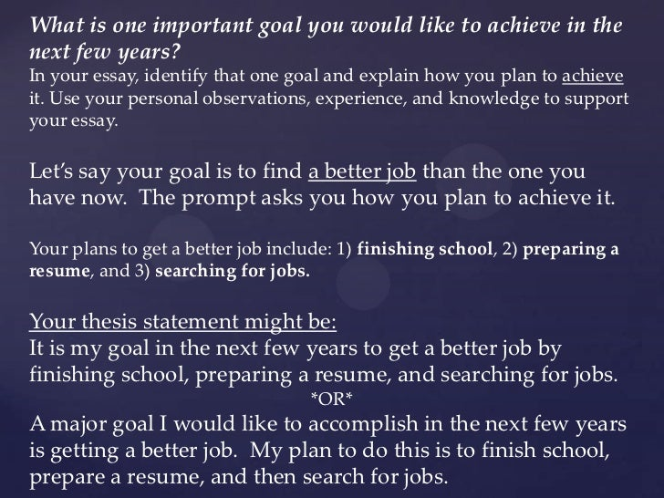 what is one important goal you would like to achieve in the next few years What is one important goal you would like to achieve in the next few years the small business i would like to start would be a candy store this paper will define.