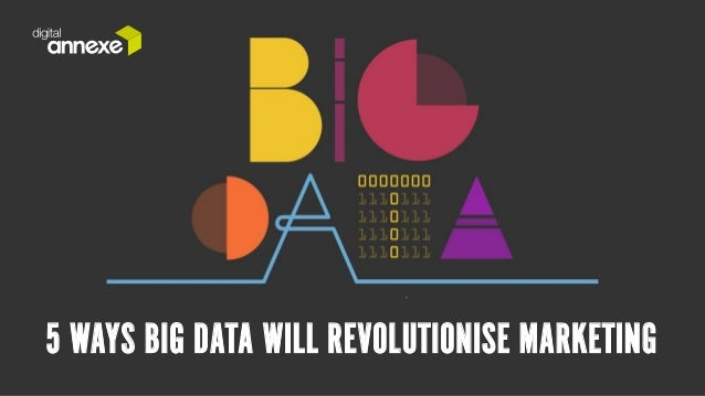 5 WAYS BIG DATA WILL REVOLUTIONISE MARKETING