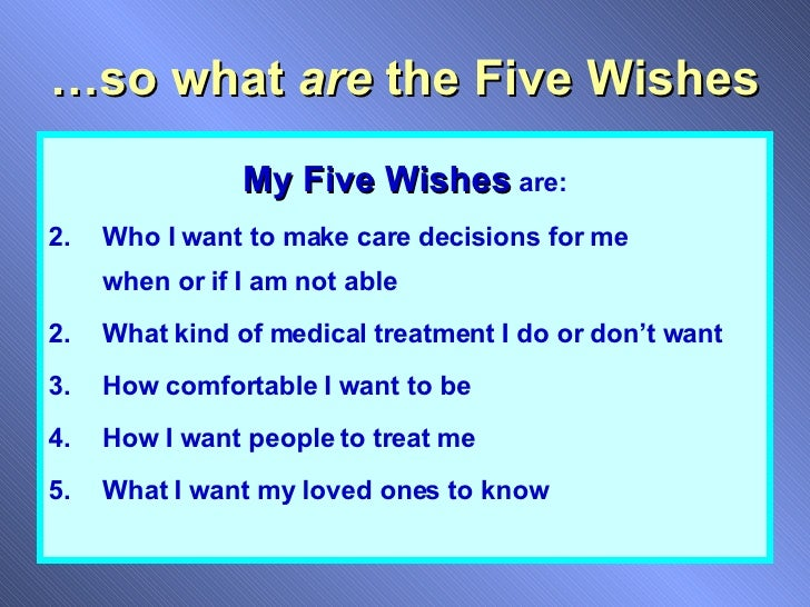 Five Wishes For Employee Groups
