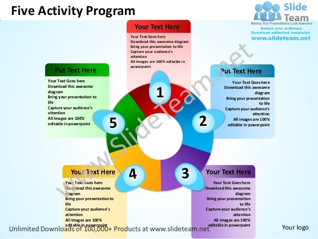 Five activity program powerpoint templates 0712 for Activity programme template