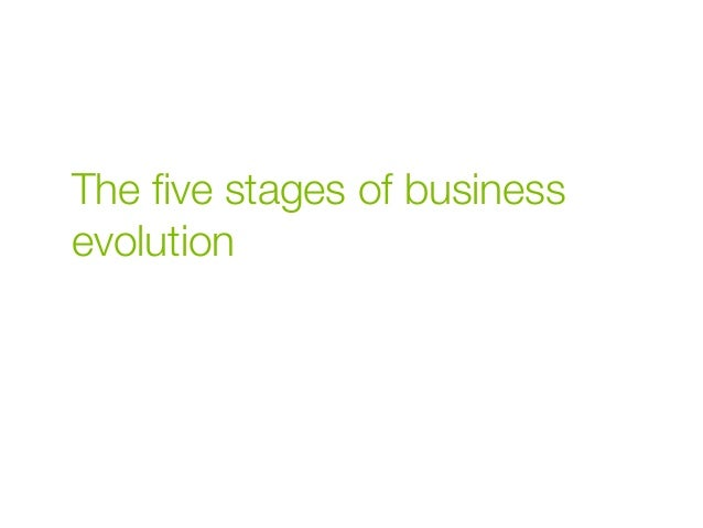 The five stages of business evolution