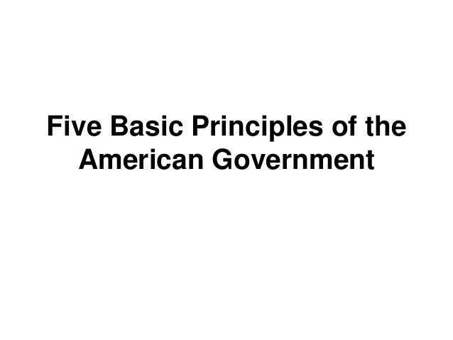 write about one of the five fundamental principles