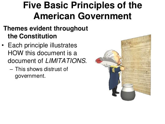 Five basic principles of american government